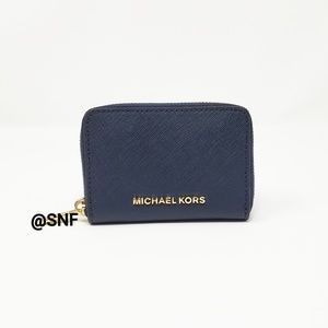 Michael Kors Navy Blue Card Case Wallet